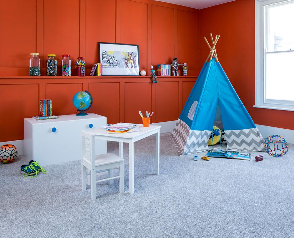 Carpet Cormar Apollo Elite Grey Partridge Childrens Room