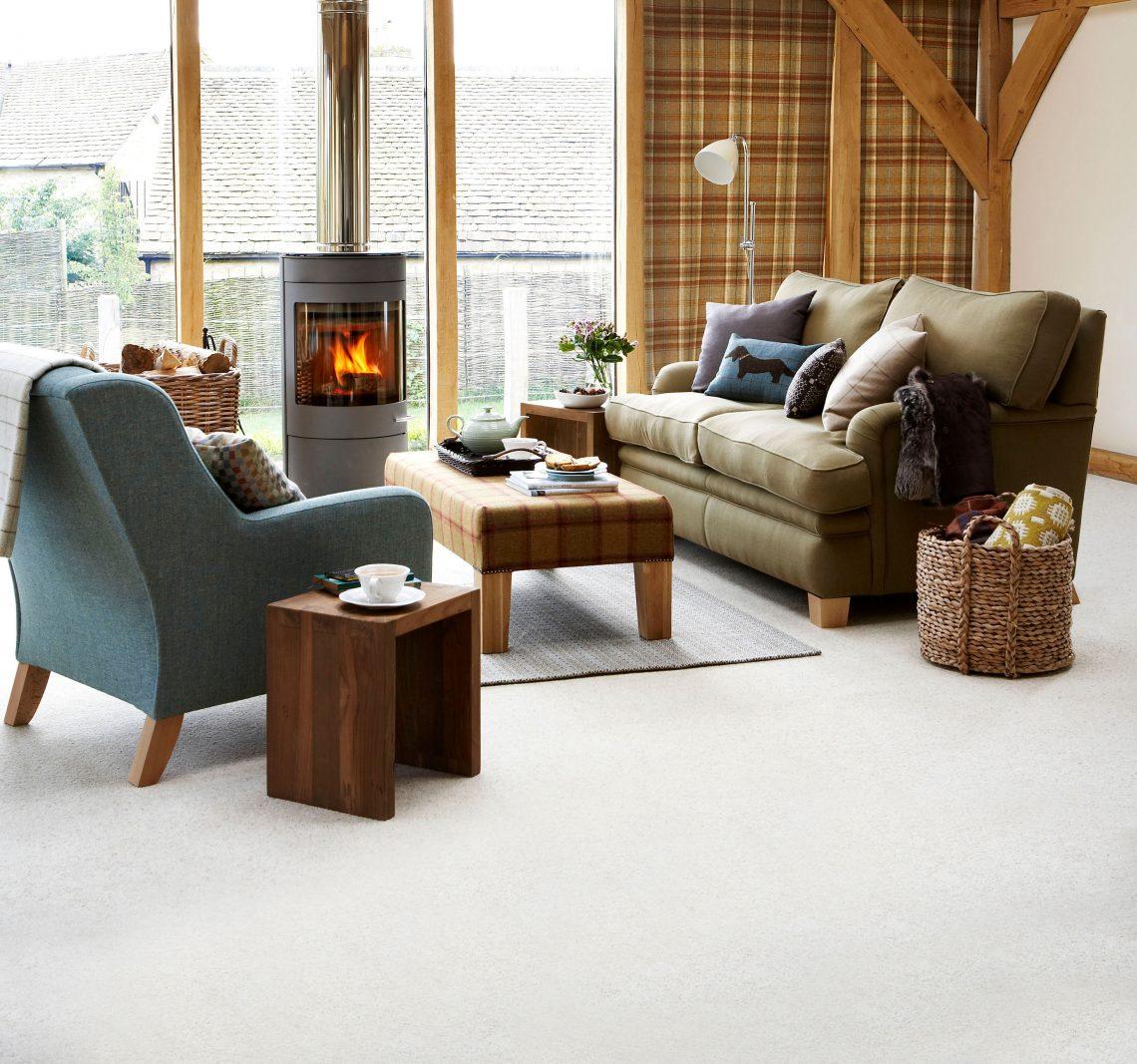 Carpet Cormar Natural Berber Morning Dew Living Room