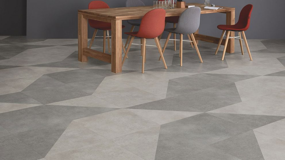 LVT Vinyl Tiles Polyflor Cement