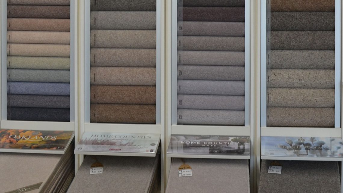 Porters Cormar carpet samples